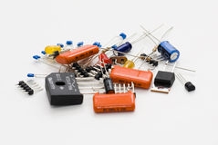 Componentes electrónicos Fotografía de archivo