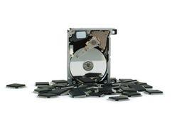 Componentes electrónicos fotografía de archivo libre de regalías
