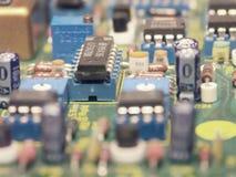 Componentes electrónicos Foto de archivo libre de regalías