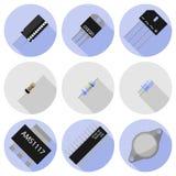 Componentes electrónicos determinados Imágenes de archivo libres de regalías