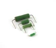 Componentes electrónicos - resistores foto de archivo