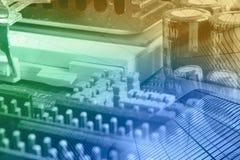 Componentes eletrônicos fotos de stock