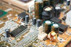 Componentes eletrônicos fotografia de stock