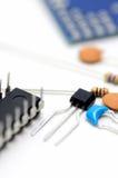 Componentes eletrônicos. imagem de stock