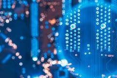 Componentes eletrônicos do projeto do traço de circuito do PWB foto de stock royalty free