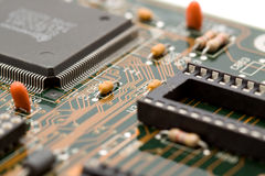 Componentes eletrônicos macro fotografia de stock royalty free