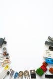 Componentes eletrônicos no fundo branco foto de stock royalty free