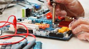 Componentes eletrônicos Imagens de Stock Royalty Free