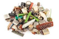 Componentes eletrônicos velhos foto de stock