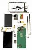 Componentes espertos do telefone fotos de stock