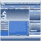 Componentes fijados para el uso en diseño de Web Imagen de archivo libre de regalías