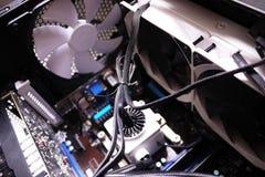 Componentes individuais de um computador pessoal Fonte de alimentação do computador pessoal foto de stock royalty free