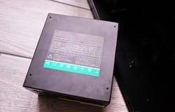 Componentes individuais de um computador pessoal Fonte de alimentação do computador pessoal imagem de stock