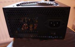 Componentes individuais de um computador pessoal Fonte de alimentação do computador pessoal imagens de stock royalty free