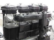 Componentes internos e peças do motor de aviões foto de stock royalty free