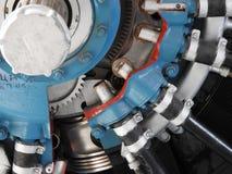 Componentes internos e peças do motor de aviões foto de stock
