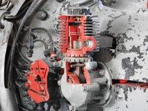 Componentes internos e peças do motor de aviões imagem de stock royalty free