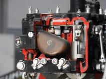 Componentes internos e peças do motor de aviões imagem de stock