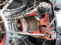 Componentes internos e peças do motor de aviões fotografia de stock