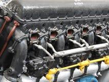 Componentes internos e peças do motor de aviões imagens de stock