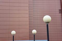 Componentes modernos de la iluminación del LED de la infraestructura urbana Imágenes de archivo libres de regalías