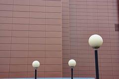 Componentes modernos de la iluminación del LED de la infraestructura urbana Fotos de archivo libres de regalías