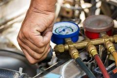 Componentes reparados do carro do ar foto de stock