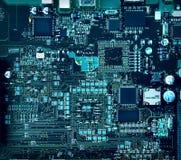 Componentes y circuitos de la placa madre Imagen de archivo