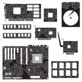 Componentes y circuitos internos de equipo de escritorio Fotografía de archivo
