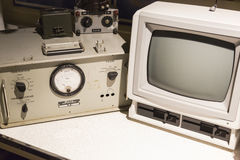 Componentes y monitor de computadora audios del vintage Foto de archivo libre de regalías