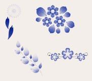 Componenti di disegno del fiore Fotografia Stock Libera da Diritti