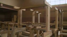Componenti di legno unite impilate della struttura, Bolivia video d archivio