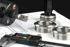Componenti di misurazione del metallo Fotografie Stock Libere da Diritti