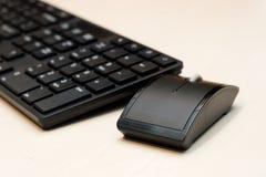 Componenti di un con computer personale: mouse, tastiera Fotografie Stock Libere da Diritti