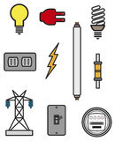 Componenti elettriche Illustrazione di Stock