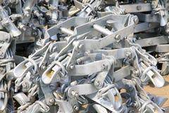 Componenti elettriche ad alta tensione dell'acciaio inossidabile della torre Fotografia Stock Libera da Diritti