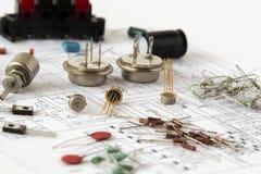 Componenti elettronici Immagini Stock