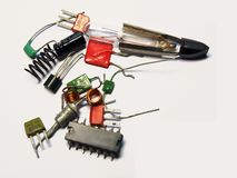 Components. Electronics components collection in one place Stock Photos