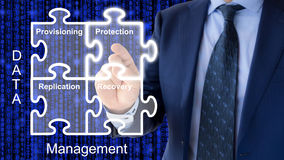 Components of data management concept stock photo