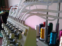Components of the embroidery machine. Songkhla , Thailand Royalty Free Stock Photo