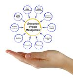Enterprise Project Management. Components of Enterprise Project Management Royalty Free Stock Image