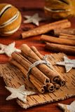 Components for festive food. On wooden background royalty free stock images