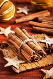 Components for festive food. On wooden background stock images