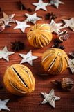 Components for festive food. Components for festive food on wooden background royalty free stock photography