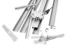 Components and fixture for installation panel Royalty Free Stock Image