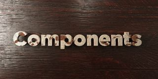 Components - grungy wooden headline on Maple  - 3D rendered royalty free stock image Stock Image