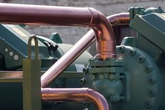Components of industrial equipment stock image