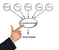 Components of leadership. Diagram showing components of leadership Royalty Free Stock Photos