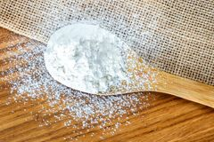 Components for making bread at home. The food composition. Low carbohydrate foods. Components for making bread at home. The food composition stock image