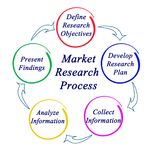 Market Research Process. Components of Market Research Process Royalty Free Stock Image
